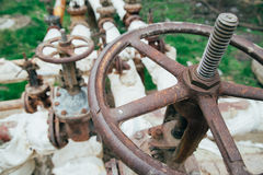 Industrial tap water pipe and valve Royalty Free Stock Photos