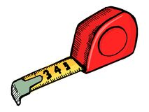 Industrial tape measure Royalty Free Stock Images