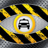 Industrial taxi background with grunge and metallic elements Royalty Free Stock Photo