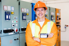 Industrial technician control panel Stock Photos
