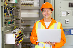 Industrial technician machinery royalty free stock photography