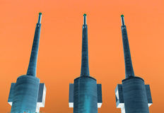 Industrial techno music background. Stock Images