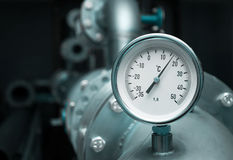Industrial temperature meter Stock Photo