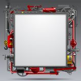 Industrial template Stock Images