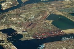 Industrial terminal Stock Image