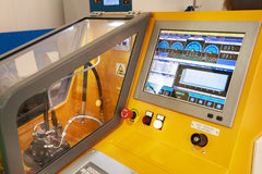 Test bench for fuel pumps. Industrial test bench for fuel pumps Stock Image