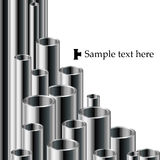 Industrial text background with pipe set Stock Photos