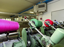 Industrial textile factory Royalty Free Stock Photo