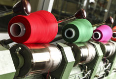 Industrial textile factory Stock Images
