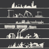 Industrial theme. In hand draw stile Stock Photos