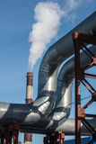 Industrial thermal insulation pipe Stock Images