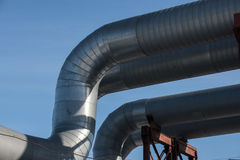 Industrial thermal insulation pipe Stock Image