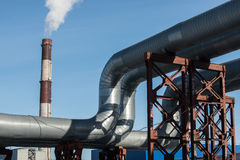 Industrial thermal insulation pipe Stock Photography