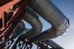 Industrial thermal insulation pipe Royalty Free Stock Photos