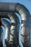 Industrial thermal insulation pipe Stock Photos