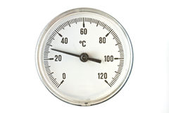 Industrial thermometer Stock Image