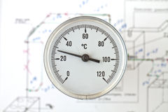 Industrial thermometer Royalty Free Stock Photography