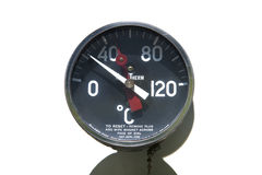 Industrial thermometer Stock Images