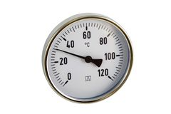 Industrial thermometer Stock Photo