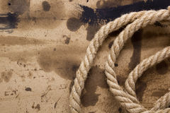 Industrial thick rope Royalty Free Stock Image