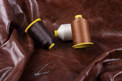 Industrial thread bobbins Royalty Free Stock Photography