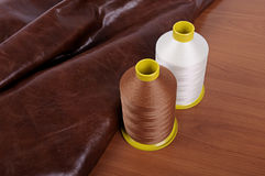 Industrial thread bobbins Stock Images