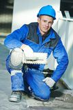 Industrial tiler portrait Stock Photography