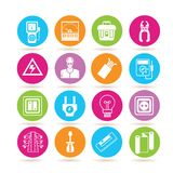 Industrial tools icons Royalty Free Stock Photo