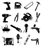 Industrial tools icons set Stock Photo