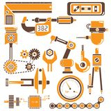 Industrial tools set Royalty Free Stock Images