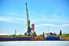 Industrial tower cranes Stock Photos
