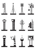 Industrial towers and poles Royalty Free Stock Photo
