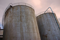 Industrial Towers Royalty Free Stock Photography