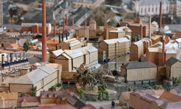 Industrial town miniature model Stock Photos