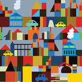 Industrial town seamless pattern Royalty Free Stock Images