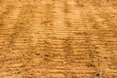 Industrial tractor footprint Royalty Free Stock Image