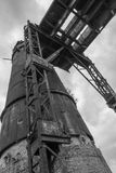 An old lime tower in the Poldi Metallurgy royalty free stock photography