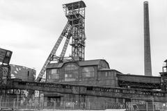 Old factory blast furnace royalty free stock photos
