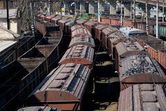 Industrial train Royalty Free Stock Images