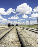Industrial train cars with blue sky Royalty Free Stock Photography