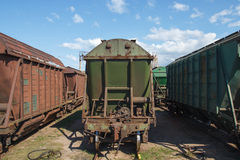 Industrial train vagons Stock Images