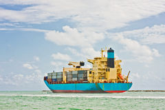 Industrial transport cargo ship Royalty Free Stock Image