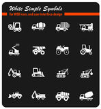 Industrial transport icon set. Industrial transport web icons for user interface design Stock Photo