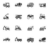 Industrial transport icon set. Industrial transport web icons for user interface design Royalty Free Stock Images