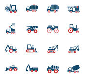 Industrial transport icon set. Industrial transport web icons for user interface design Stock Image