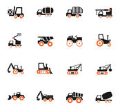 Industrial transport icon set. Industrial transport web icons for user interface design Royalty Free Stock Photo