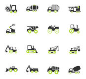 Industrial transport icon set. Industrial transport web icons for user interface design Royalty Free Stock Image