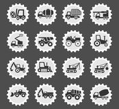 Industrial transport icon set. Industrial transport web icons for user interface design Royalty Free Stock Photos