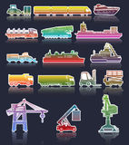 Industrial Transport icons Stock Photo