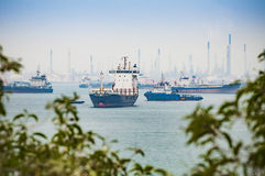 Industrial transport ship Stock Image